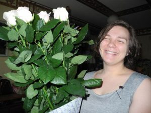 7 білих троянд у Львові фото