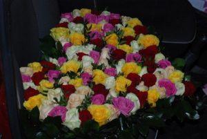 букет троянд у вигляді серця у Львові фото