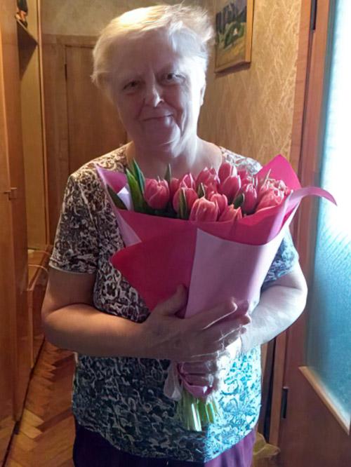букет тюльпанів для мами у Львові фото