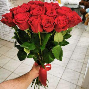 21 червона троянда у Львові фото