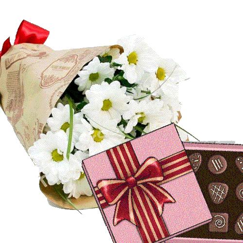 хризантеми та цукерки фото