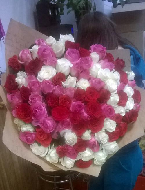 101 троянда до дня закоханих фото