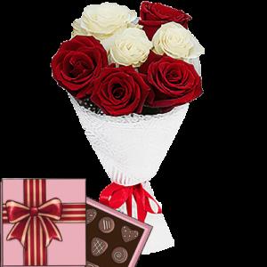 7 троянд і цукерки