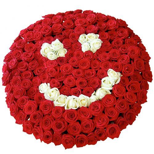 """фото товару 201 троянда """"Смайлик"""""""