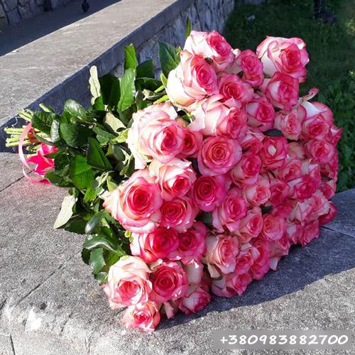 букет 75 троянд Джумілія