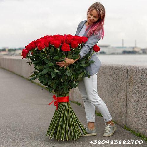 букет 101 троянда у Львові