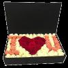 "Фото товара 101 троянда в коробці ""I love you"" во Львове"