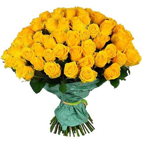 Фото товара 101 жовта троянда во Львове