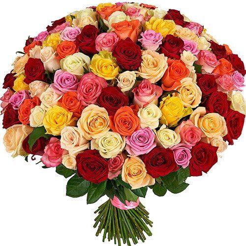 Фото товара 101 троянда мікс во Львове