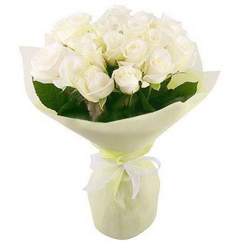Фото товара 19 білих троянд во Львове