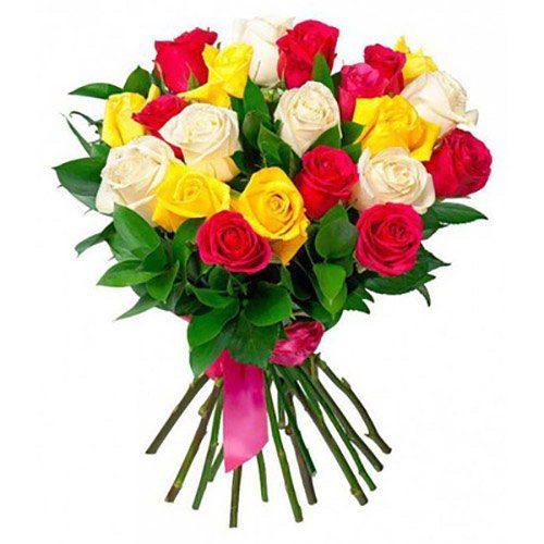 Фото товара 21 троянда мікс во Львове