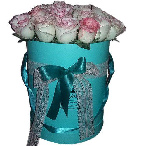 """Фото товара 21 троянда """"Джумілія"""" в коробці во Львове"""