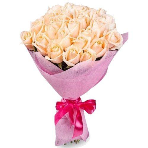 Фото товара 25 кремових троянд во Львове