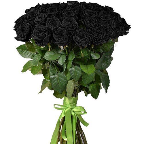 Фото товара 25 чорних троянд во Львове