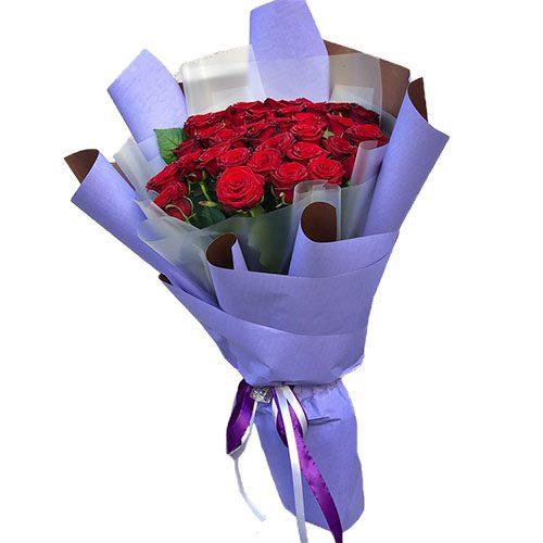 Фото товара 33 червоні троянди во Львове