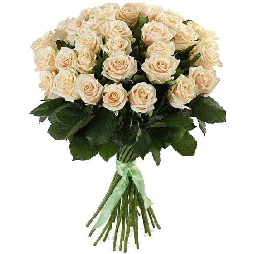 Фото товара 33 кремові троянди во Львове
