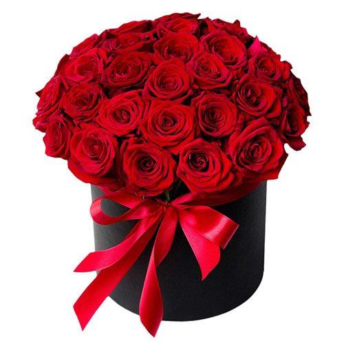 Фото товара 33 троянди в капелюшній коробці во Львове