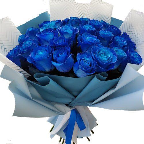 Фото товара 33 сині троянди (фарбовані) во Львове