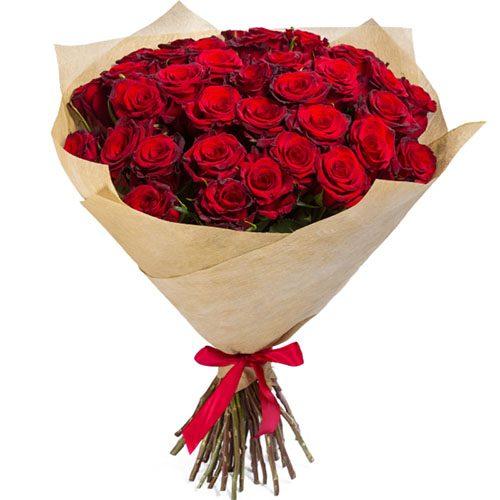 Фото товара 35 червоних троянд во Львове