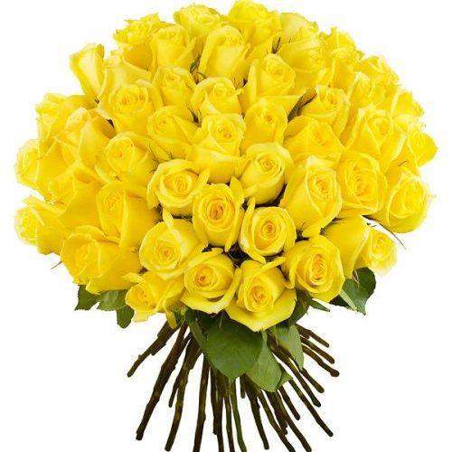 Фото товара 51 жовта троянда во Львове