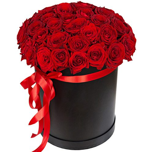 Фото товара 51 червона троянда в коробці во Львове