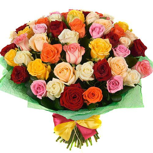 Фото товара 51 троянда мікс во Львове