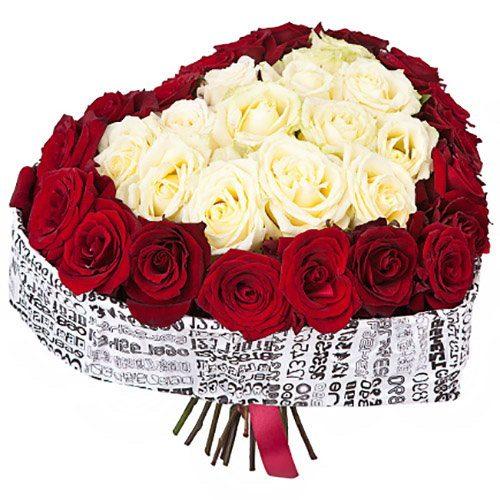 Фото товара 51 троянда серце во Львове