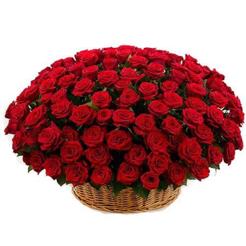 Фото товара Кошик 101 червона троянда во Львове