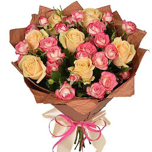 Фото товара Кремова троянда і спрей во Львове