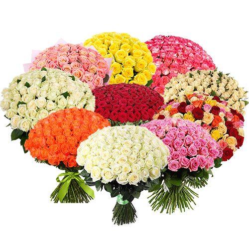 Фото товара Букет 1001 троянда різних сортів во Львове