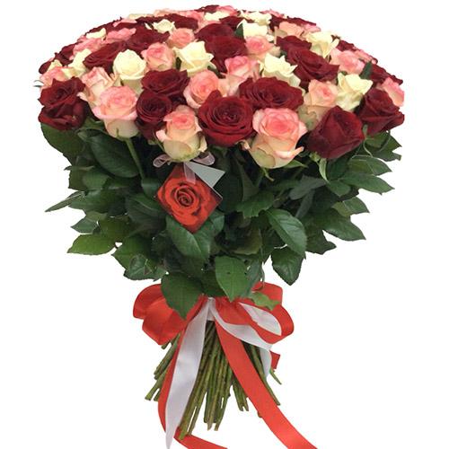 "Фото товара 101 троянда ""Рожева перлина"" во Львове"