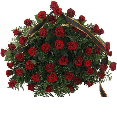 Фото товара 70 червоних троянд у кошику во Львове