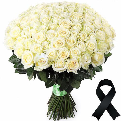 Фото товара 100 білих троянд во Львове