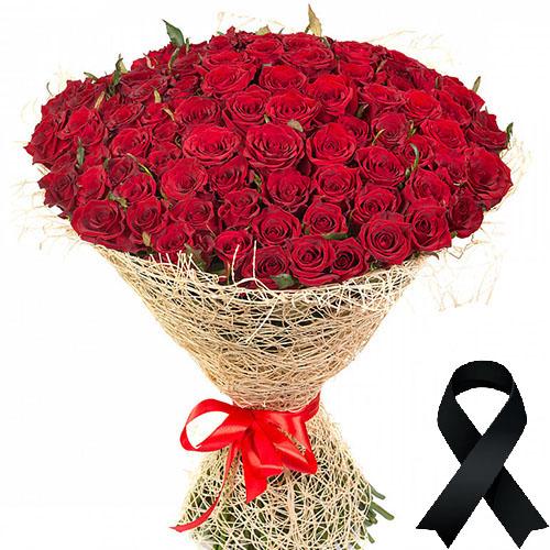 Фото товара 100 червоних троянд во Львове
