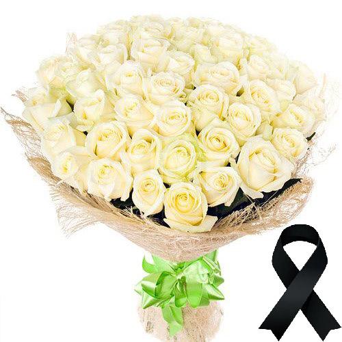 Фото товара 50 білих троянд во Львове