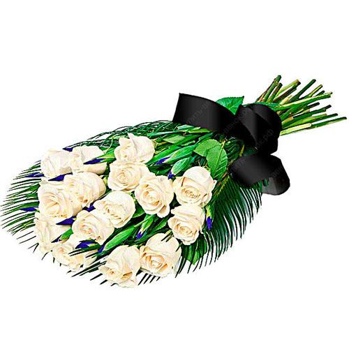 Фото товара 16 білих троянд во Львове