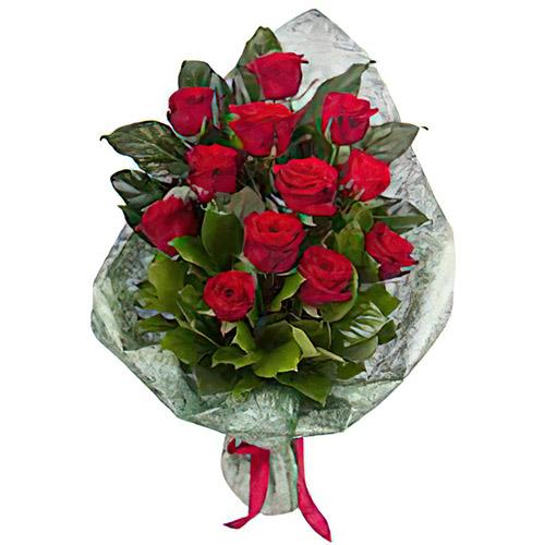 Фото товара 12 червоних троянд во Львове