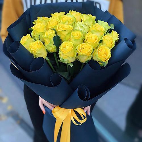 Фото товара Траурний букет жовтих троянд во Львове
